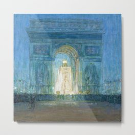 African American Masterpiece 'Washington Square Arch' Greenwich Village, NYC by Henry Ossawa Tanner Metal Print