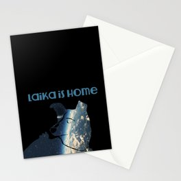 Laika is Home Stationery Cards