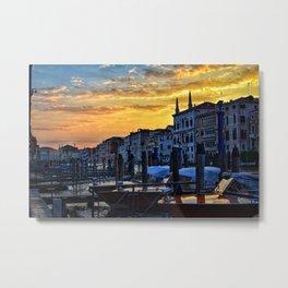 Venezian Sunset Metal Print