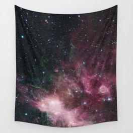 Pink Glittering Star Galaxy Wall Tapestry