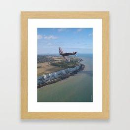 Spitfire over England Framed Art Print