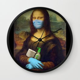 2020 Mona Lisa Wall Clock