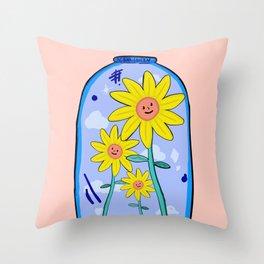 Flower Jar Throw Pillow
