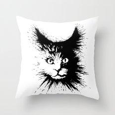 Inkcat4 Throw Pillow