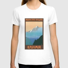 1930 Kashmir Indian State Railways Travel Poster T-shirt