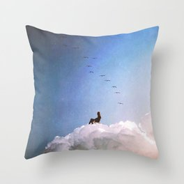 Loner Throw Pillow