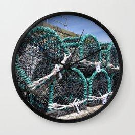 Lobster pots Wall Clock