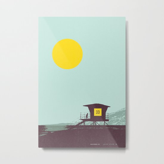 Locals Only - San Diego Metal Print