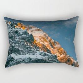 Glowing mountain at sunset Rectangular Pillow