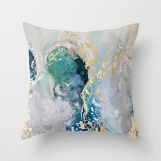 Peacock Dreams Throw Pillow
