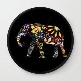 Aztec Elephant Wall Clock