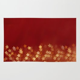 gold background with stars Rug