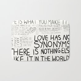 love has no synonyms Bath Mat