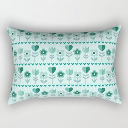 LOVE GARDEN - SEAFOAM Rectangular Pillow