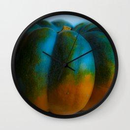 Blue Light Pumpkin Wall Clock