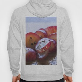 Red grapes cut into pieces Hoody