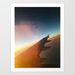 Airplane Window Art Print