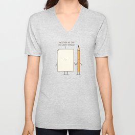 Together we can do great things! Unisex V-Neck