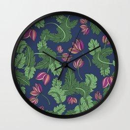 Foliage I Wall Clock