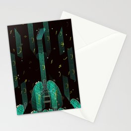 breathing music tonight Stationery Cards