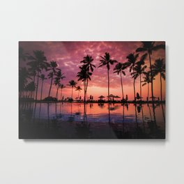Paradise Sunset Tropical (Color) Metal Print