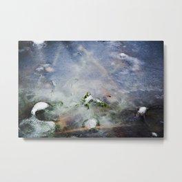frozen lakes Metal Print