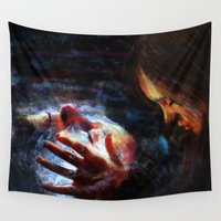 x men Wall Tapestries featuring X men by Luca Leona