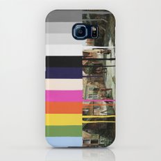 Garage Sale Painting of Peasants with Color Bars Galaxy S7 Slim Case