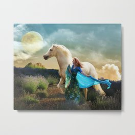 Lady in Blue - Spirit Connection Metal Print