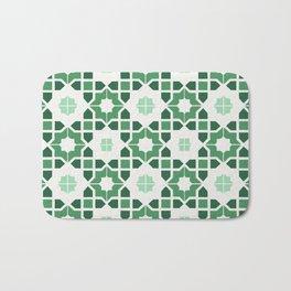 Morrocan tiles in green Bath Mat