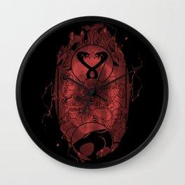 Evil Shrouds Us Wall Clock
