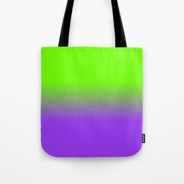 Neon Purple and Neon Green Ombré  Shade Color Fade Tote Bag