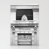 broadway Stationery Cards featuring 100 Broadway by Jon Cain