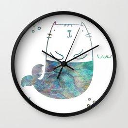MerKitty Ocean Seashell Wall Clock