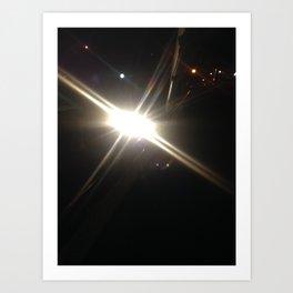night flash Paris by night Art Print