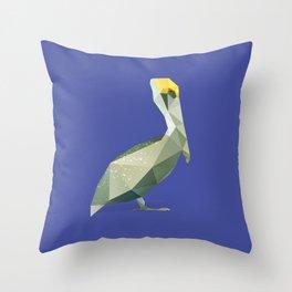 Pelican. Throw Pillow