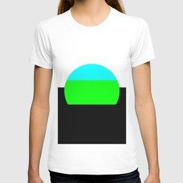 Aqua Blue & Green Mod Art T-shirt