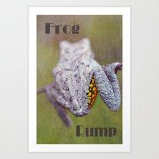 Frog Rump Art Print