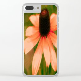 Vibrant Orange Coneflower Clear iPhone Case