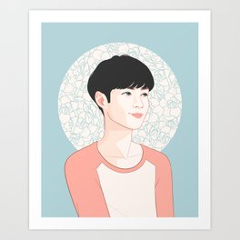 zhang yixing - exo lay Art Print