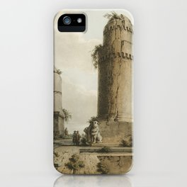 Monuments near Tortosa from Views in the Ottoman Dominions, in Europe, in Asia, and some of the Medi iPhone Case