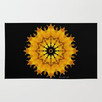 shiva Area & Throw Rugs featuring Mandala Shiva by Digital Mandalas