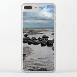 The Water Slips Away Clear iPhone Case