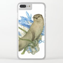 River Otter and Kyanite Clear iPhone Case