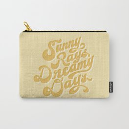 Sunny Rays Dreamy Days Typographic Art - Yellow | Alex Gold Studios Carry-All Pouch