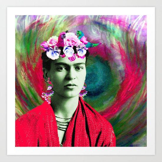 Frida Kahlo Hand Painted Prints