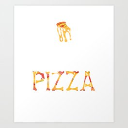 Pizza In Hell Art Print