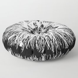 Make A Wish Dandelion Vector In White Floor Pillow