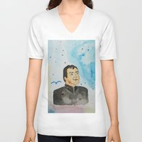 crowley V-neck T-shirts featuring supernatural crowley by meldemirci