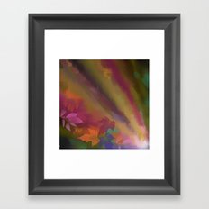 Autumn splendour, abstract painting with leaves Framed Art Print